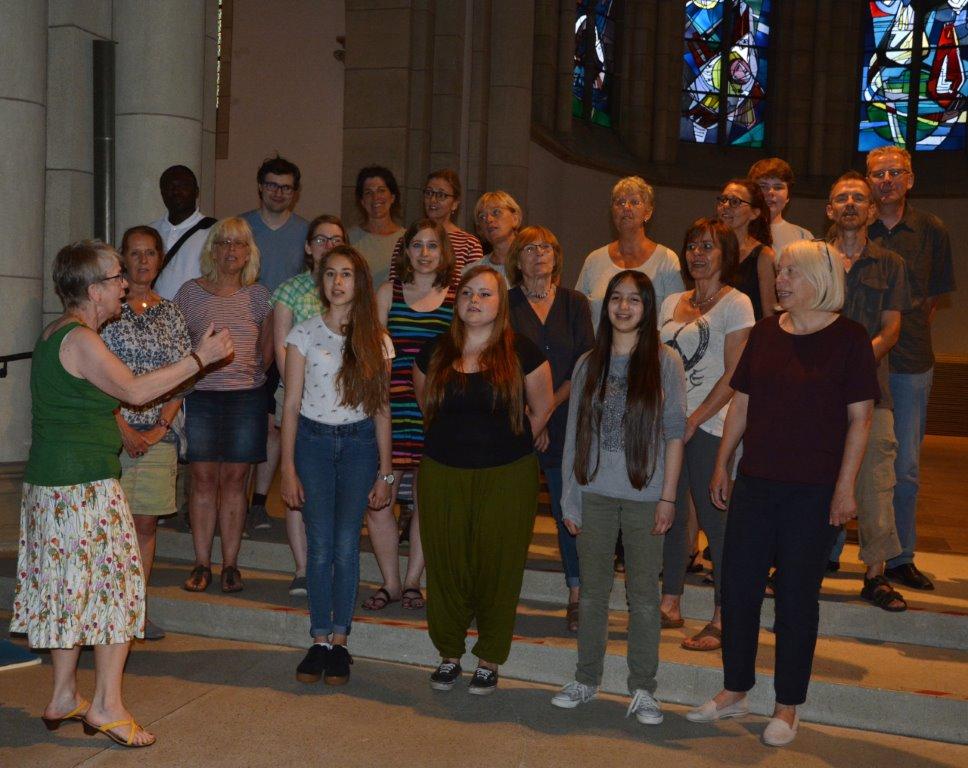 Vokalensemble am Mergelteich - Probe in der Grabeskirche