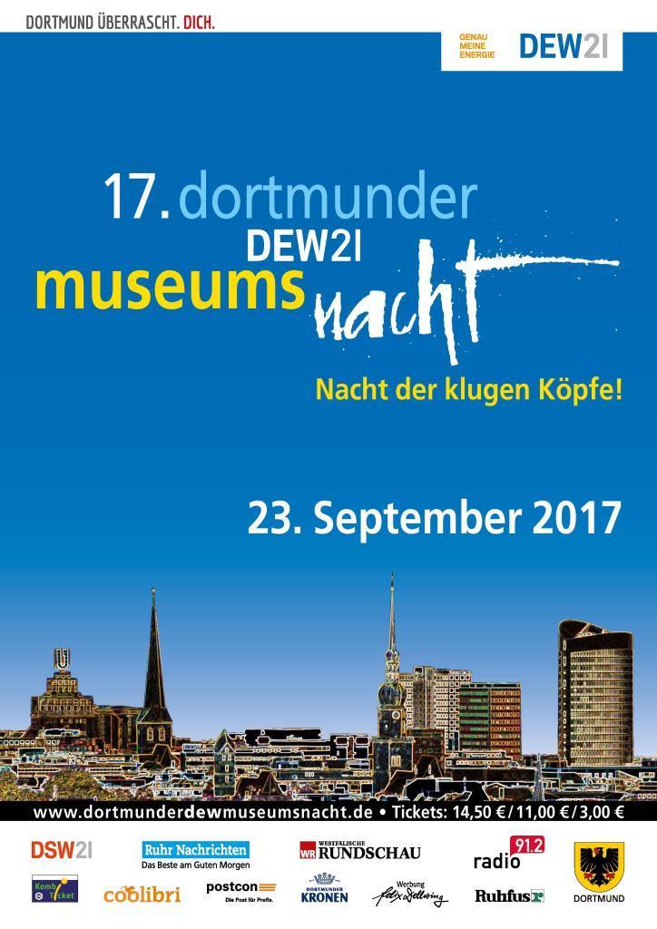 Museumsnacht Dortmund 2017 Plakat