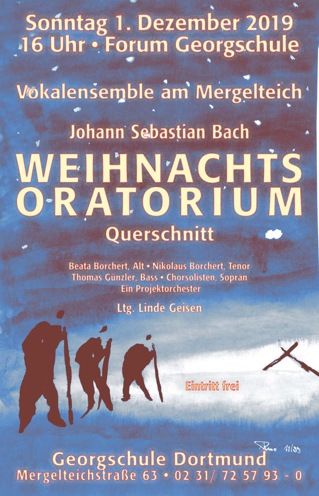 Plakat Weihnachtsoratorium 2019 Vokalensemble am Mergelteich